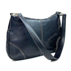 Fossil, leather satchel purse, shoulder bag EUC